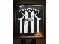 alan shearer shirt signed and framed