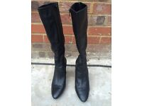 Jones Bootmaker Ladies Black Leather Knee High Boot Size 40/7