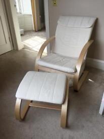 Nursery chair and stool