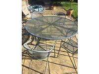 Large outdoor table set with 6 chairs