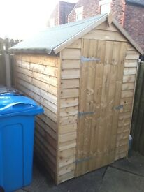 Garden Shed 6x4 with Perspex Window