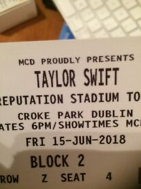 TAYLOR SWIFT Croke Park PIT SEATING BLOCK 2 TICKET