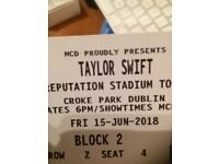 TAYLOR SWIFT Croke Park PIT SEATING BLOCK 2 TICKET