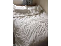 Duvet with cover and pillows