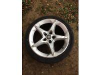 "Astra h sri / zafira b 18"" penta alloy with 225/45/18 tyre 07594145438"