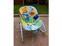 Baby vibrating rocking chair