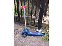 Spiderman 3 wheeler scooter