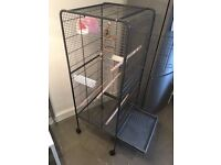 XXL Cage on wheels & Accessories for Budgies, Parrots etc