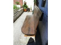 Solid Oak Wood Church Pew Kitchen Hall Garden Bench