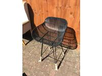 Black Metal outdoor chair