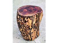 Log stool.