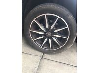 4 Wolfrace alloys and tyres