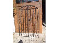 Garden gates.Black wrought iron blacksmith made good quality sturdy gates. 2 pairs available.