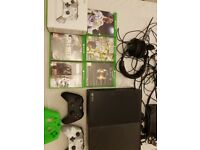 Xbox one with games, headset and controllers