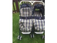 Mamas & Papas Twin lie Flat as new pushchair from Birth Upwards