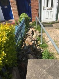 Free roof tiles and building rubble and some bricks in Leicester
