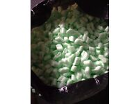 Loose fill Packing Peanuts Biodegradable about 4cbft