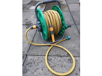 HOZELOCK 2in1 FREESTANDING HOSE REEL & 25M HOSEPIPE