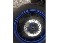 Motorcycle wheels aprillia rs 125 complete with discs and tyres