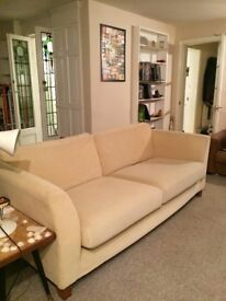 Marks and Spencer beige 4 seater sofa