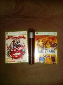 Xbox 360 Lips games and official microphone