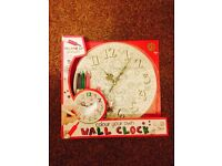 Kids colour your own wall clock gift BRAND NEW