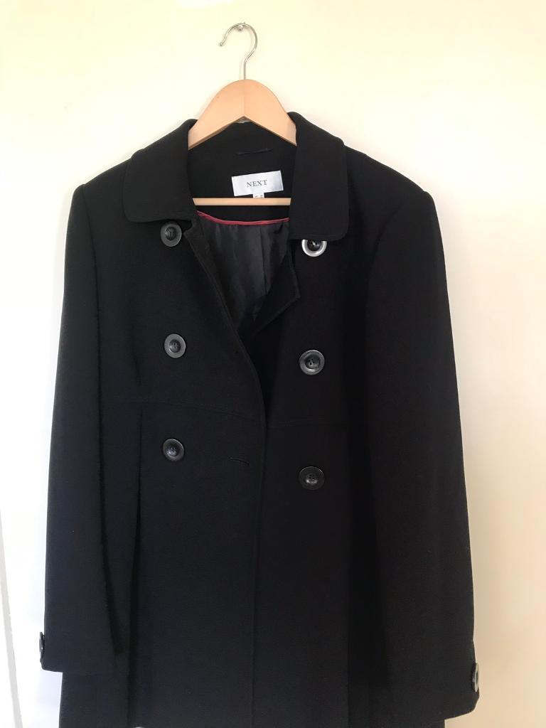7655fcc6ad5 Next size 18 black coat