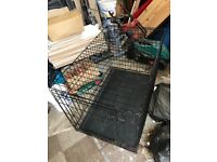 Medium / large metal dog crate