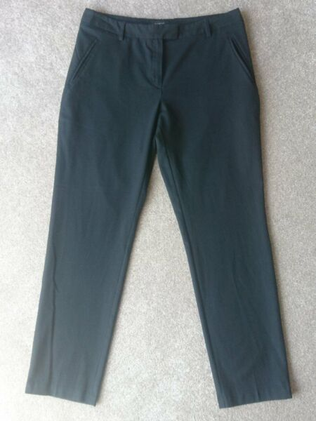Marks & Spencer | M&S Autograph Trousers in Black - Ladies Size 12, used for sale  Worthing, West Sussex