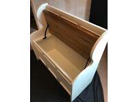 Solid Pine storage bench seat, hallway or children's room