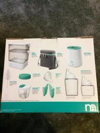 BRAND NEW! Mothercare newborn steriliser starter set- includes bottles and lots of other stuff!