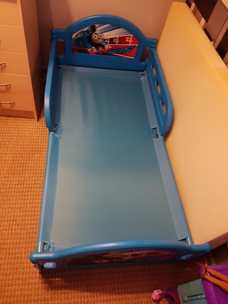 Children's Thomas The Tank Bed 140cm by 70cm with Foam Matress