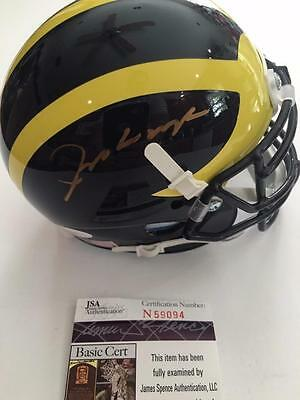 JIM HARBAUGH MICHIGAN WOLVERINES HEAD COACH PLAYOFFS JSA SIGNED MINI HELMET COA