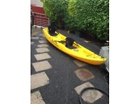 ocean malibu xl kayak with accessories