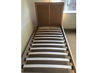 Single bed frame feather and black