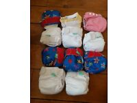 newborn cloth nappies-tots bots, bum genius and bambooty