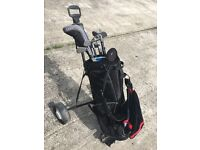 Nike NDS golf clubs, bag, trolley, accessories, left handed.