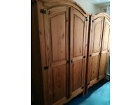 Solid wood, spacious, 6 piece set of bedroom furniture