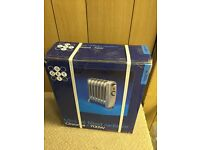 Chrome 700W Oil Filled Radiator Heater – Home Office Garage