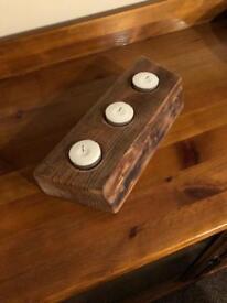 Sweet chestnut rustic live edge Waney Edge tea light Holder