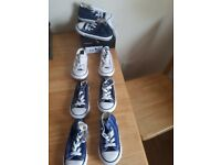 4 pairs of boys converse shoes size UK 7, selling for £10 each, all in good condition