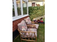 Attractive Bamboo Conservatory chairs. £20 for the pair