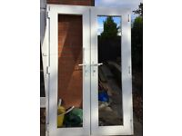 UPVC White french doors