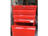 Red filing cabinet - Silverline 3 drawer and hanging file drawer