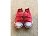 As new Girls pink trainers