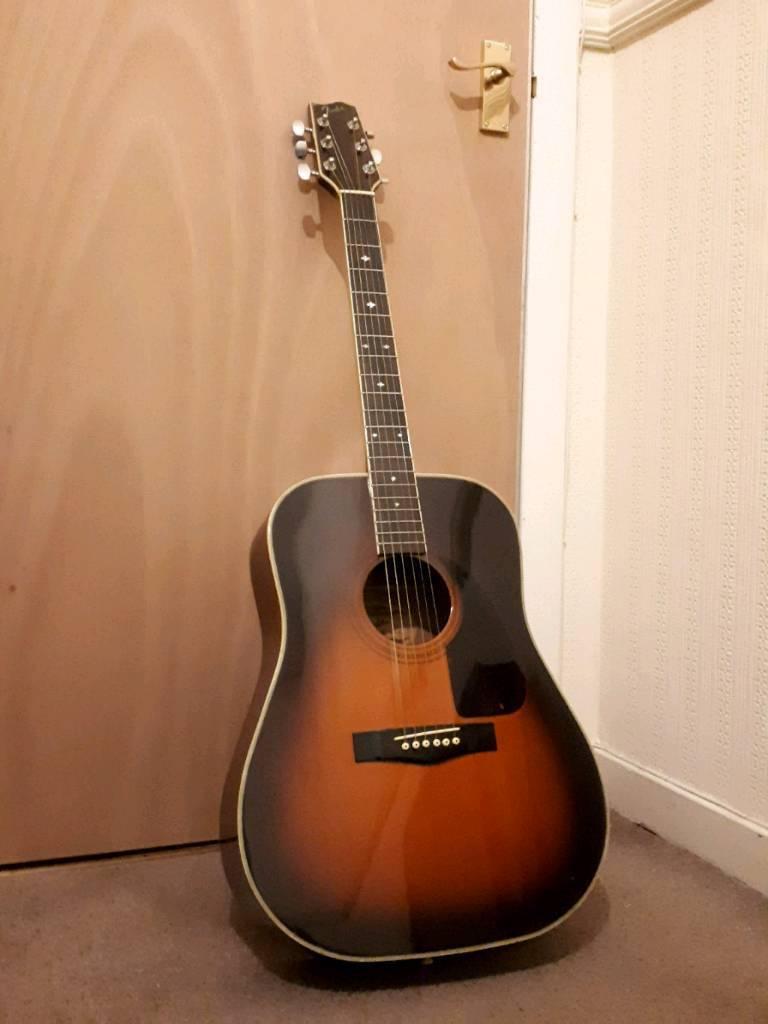 Fender F240 A Vintage 80s Production Dreadnought Acoustic Guitar
