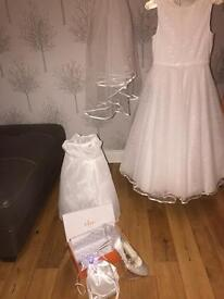 Stunning Communion / Flower girl dress and accessories