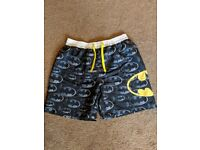 Batman swim shorts size M new with tags