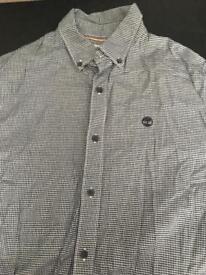 Men's medium timberland dogtooth shirt