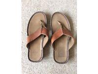 Mens Leather flip flop/sandal
